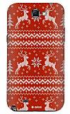 Dafoni Samsung N7100 Galaxy Note 2 Sweater Deer K�rm�z� Rubber K�l�f
