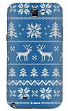 Dafoni Samsung N7100 Galaxy Note 2 Sweater Deer Mavi Rubber K�l�f