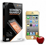 Dafoni iPhone 4 / 4S Tempered Glass Ayna Gold Cam Ekran Koruyucu