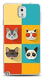 Samsung N9000 Galaxy Note 3 Four Cats Kılıf