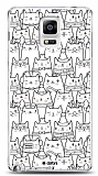 Samsung N9100 Galaxy Note 4 Cats Kılıf