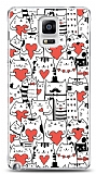 Dafoni Samsung N9100 Galaxy Note 4 Love Cats Kılıf