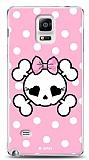 Dafoni Samsung N9100 Galaxy Note 4 Pink Skull K�l�f