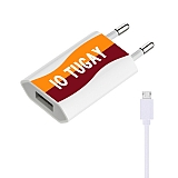 Cortrea Sarı Kırmızı Kişiye Özel Micro USB Şarj Aleti
