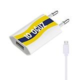 Cortrea Sarı Lacivert Kişiye Özel Micro USB Şarj Aleti