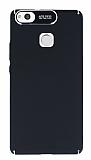 Dafoni Shade Huawei P9 Lite Kamera Korumalı Siyah Rubber Kılıf
