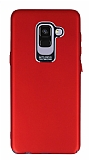 Dafoni Shade Samsung Galaxy A8 Plus 2018 Kamera Korumalı Kırmızı Rubber Kılıf
