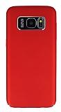 Dafoni Shade Samsung Galaxy S7 edge Kamera Korumalı Kırmızı Rubber Kılıf