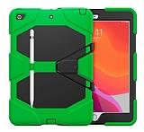 Dafoni Shock Armor iPad 10.2 2020 Kalemlikli Ultra Koruma Yeşil Kılıf