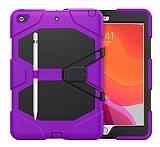 Dafoni Shock Armor iPad 10.2 2020 Kalemlikli Ultra Koruma Mor Kılıf
