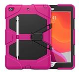 Dafoni Shock Armor iPad 10.2 2020 Kalemlikli Ultra Koruma Pembe Kılıf