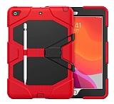 Dafoni Shock Armor iPad 10.2 2020 Kalemlikli Ultra Koruma Kırmızı Kılıf