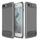 Dafoni Slim Frost iPhone 7 Plus Ultra Koruma Gri Kılıf