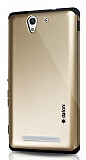 Dafoni Sony Xperia C3 Slim Power Gold Kılıf