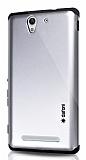 Dafoni Sony Xperia C3 Slim Power Silver Kılıf