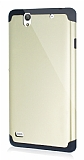 Dafoni Sony Xperia C4 Slim Power Ultra Koruma Gold K�l�f