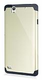 Dafoni Sony Xperia C4 Slim Power Ultra Koruma Gold Kılıf