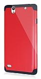 Dafoni Sony Xperia C4 Slim Power Ultra Koruma Kırmızı Kılıf