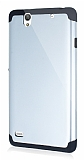 Dafoni Sony Xperia C4 Slim Power Ultra Koruma Silver K�l�f
