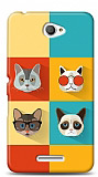 Sony Xperia E4 Four Cats Kılıf
