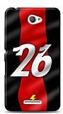 Sony Xperia E4 Kırmızı Şimşekler Kılıf