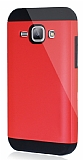 Dafoni Samsung Galaxy J1 Slim Power Ultra Koruma Kırmızı Kılıf