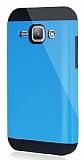 Dafoni Samsung Galaxy J1 Slim Power Ultra Koruma Mavi Kılıf
