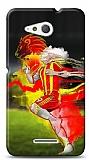 Sony Xperia E4g Sarı Kırmızı Kılıf