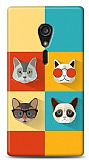 Sony Xperia ion LT28i Four Cats Kılıf