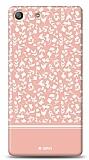 Sony Xperia M5 Pink Flower Kılıf