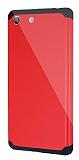 Dafoni Sony Xperia M5 Slim Power Ultra Koruma Kırmızı Kılıf