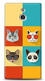 Sony Xperia P Four Cats Kılıf