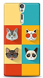 Sony Xperia S Four Cats Kılıf