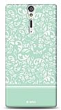 Sony Xperia S Green Flower Kılıf