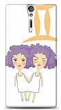 Dafoni Sony Xperia S İkizler Burcu Kılıf