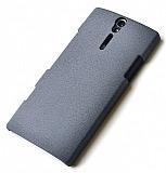 Eiroo Sony Xperia S Kumlu Gri Rubber K�l�f