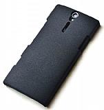 Eiroo Sony Xperia S Kumlu Siyah Rubber K�l�f