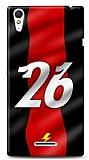 Sony Xperia T3 Kırmızı Şimşekler Kılıf