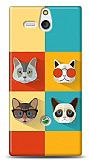 Sony Xperia U Four Cats Kılıf