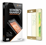 Dafoni Sony Xperia X Curve Tempered Glass Premium Gold Full Cam Ekran Koruyucu