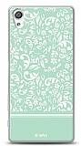 Dafoni Sony Xperia X Green Flower Kılıf