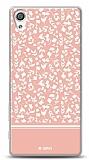Dafoni Sony Xperia X Pink Flower Kılıf