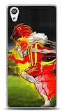 Dafoni Sony Xperia X Sarı Kırmızı Kılıf