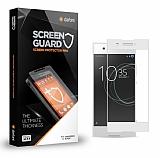 Dafoni Sony Xperia XA1 Ultra Tempered Glass Premium Full Beyaz Cam Ekran Koruyucu