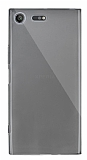 Dafoni Aircraft Sony Xperia XZ Premium Ultra İnce Şeffaf Siyah Silikon Kılıf