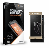Dafoni Sony Xperia XZ1 Curve Tempered Glass Premium Full Gold Cam Ekran Koruyucu