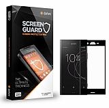 Dafoni Sony Xperia XZ1 Curve Tempered Glass Premium Full Siyah Cam Ekran Koruyucu