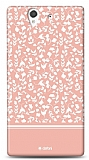 Dafoni Sony Xperia Z Pink Flower K�l�f