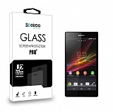 Eiroo Sony Xperia Z Tempered Glass Cam Ekran Koruyucu