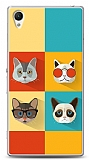 Sony Xperia Z1 Four Cats Kılıf